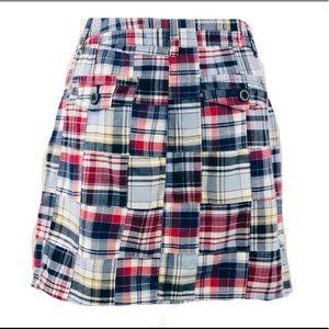 LOFT Skirts - Loft Cotton Plaid Patchwork Skirt Sz 6